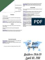 Sermon Notes April 10 2011