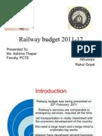 Railway budget 2011-12