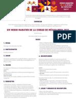 Convocatoria Medio Maratón Cdmx 2021
