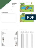 Manual de apresto para los alumnos de entran a 1 básico en Iniciación a la escritura _ 1 _ Rodea cinco diferencias en el dibujo de abajo.