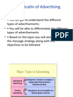 LECT---4-CLASSIFICATION OF ADVERTISI NG