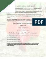 Ganoderma Lucidum-Inducing Health Naturally