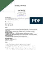 sample cv instrumentation engineer - Automation Engineer Sample Resume