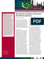 Why Pakistan is Neither a Democracy Nor (Yet?) an Autocracy