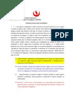 4a Solucionario del simulacro sobre paráfrasis
