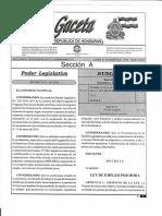 Ley de Empleo Por Hora Gaceta Decreto 354 2013
