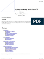 Introduction to programming with OpenCV