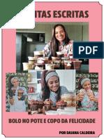 RECEITAS ESCRITAS BOLO E COPO DA FELICIDADE
