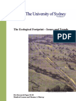 Ecological Footprint Issues and Trends