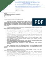 Surat Perpanjang PBM Fase 5