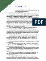 32 setiembre 2004 Carta abierta a la FUM y Vaquización