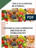 Alimentos e Suas Fontes de Energia