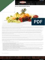 A Importância Das Frutas Na Alimentação Diária - Restaurante Frutos Da Terra _ Caminho Do Vinho