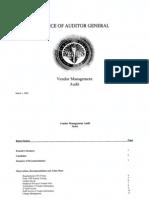 RCSD Audit Vendor Management