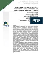 O Sistema integrado de gestão - Experiência de uma empresa de esquadria de aluminio
