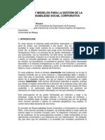 Normas y modelos para la Gestión de la Responsabilidad Social Corporativa