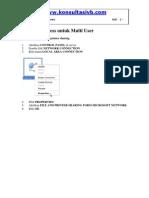 database access untuk multi user rekam medis