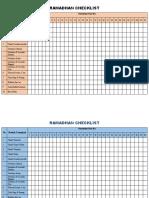 Ramadhan Checklist