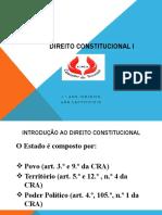 Direito Constitucioanal I 2018