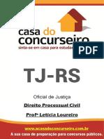 Apostila Tj Rs Oficial de Justica Direito Processual Civil Leticia Loureiro