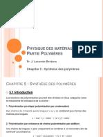 Cinetique Des Polymere