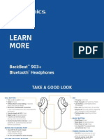 PLANTRONICS BACKBEAT 903+ MANUAL