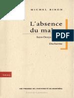 l-absence-du-maitre-saint-denys-garneau-ferron-ducharme