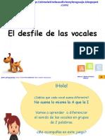 El desfile de las vocales INICIAL  V.2007