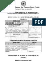 Cronograma Admision2011 I