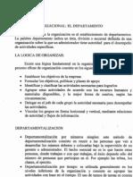 División organizacional El Departamento