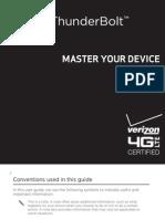 Verizon Wireless HTC ThunderBolt Manual