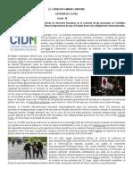 La CIDH Condena Las Graves Violaciones de Derechos Humanos en Colombia