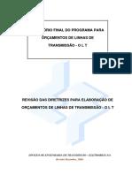 Relatorio Final do programa para orcamento de LT - OLT (2006)