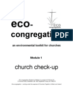 Church Check Up - Reviewing Churches Environmental Practices, Developing Plans for Action