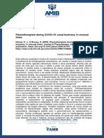 Artigo Comentado - Physiotherapists During COVID-19_ Usual Business, In Unusual Times