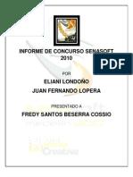 Informe de Concurso Senasoft 2010