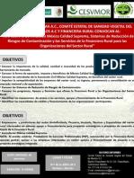 CONVOCATORIA CURSO MÉXICO CALIDAD SUPREMA-PROGRAMA DE INOCUIDAD AGRÍCOLA