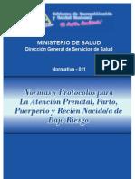 Normas y Protocolos para la Atencion Prenatal, Parto Puerperio y Recien Nacido de Bajo Riesgo