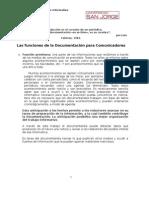 Funciones de la Documentación para comunicadores