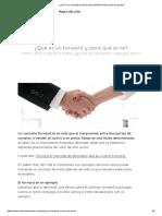 ¿Qué es un contrato forward y qué beneficios tiene para las partes_