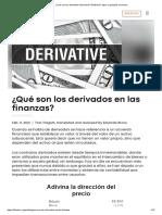¿Qué son los derivados financieros_ Definición, tipos y ejemplos comunes_