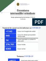 Raportul COVID-19 privind Situația Epidemiologică la 14 septembrie 2021 (ora 17:00):