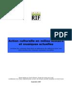 Action Culturelle en Milieu Scolaire Et MAA