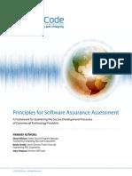 SAFECode Principles for Software Assurance Assessment
