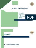 Teoria de Automatas I (sesion 3)