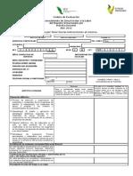 Cédula de Evaluación  Reconocimiento de Zona Escolar a la Labor del Maestro Veracruzano por Práctica Docente Año 2011
