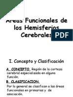 Áreas funcionales de los hemisferios cerebrales