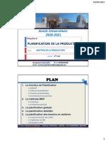 Chapitre 4 Planification de la production 2020-2021