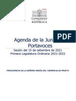 Agenda de la Junta de Portavoces