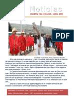 Noticias abril 2011. Provincia Ecuatoriana SJ